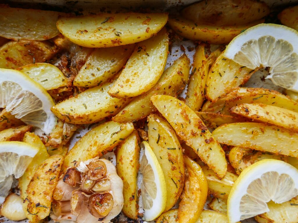 Lemon & Rosemary Potato Wedges