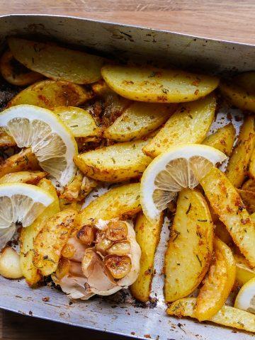 Lemon & Rosemary Potato Wedges