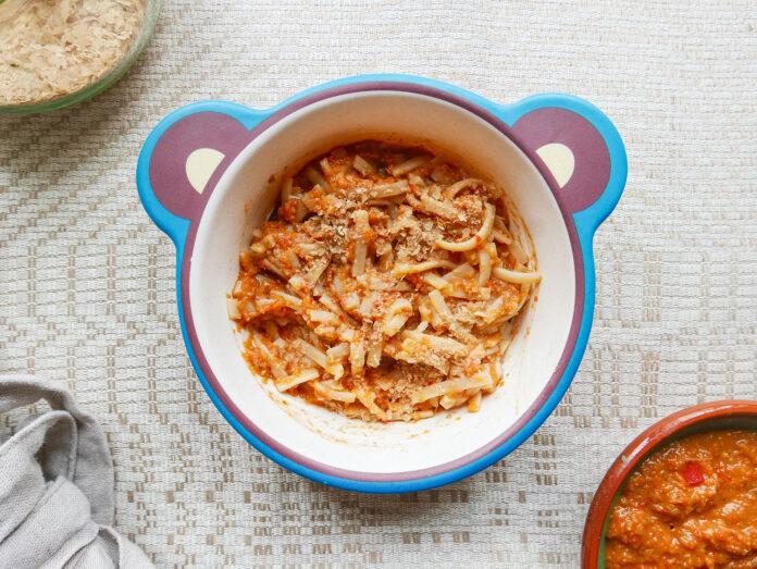 Vegan Lentil Bolognese for toddlers and kids