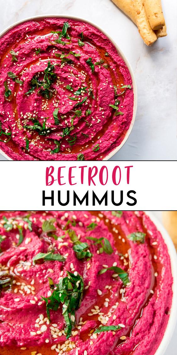 Beetroot Hummus Pin