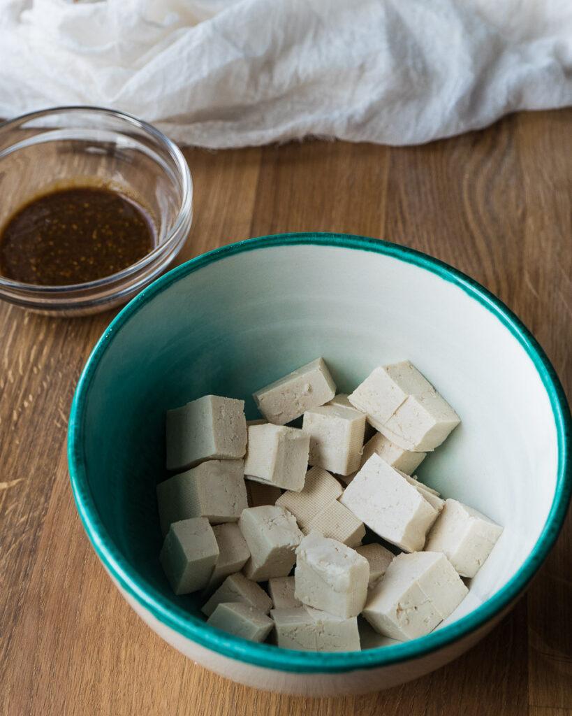 vegan cheesy tofu