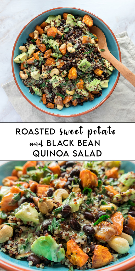 Pin Recipe Roasted Sweet Potato and Black Bean Salad