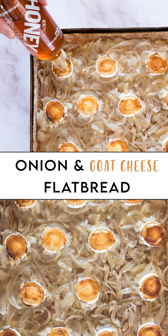 onion and goats cheese flatbread