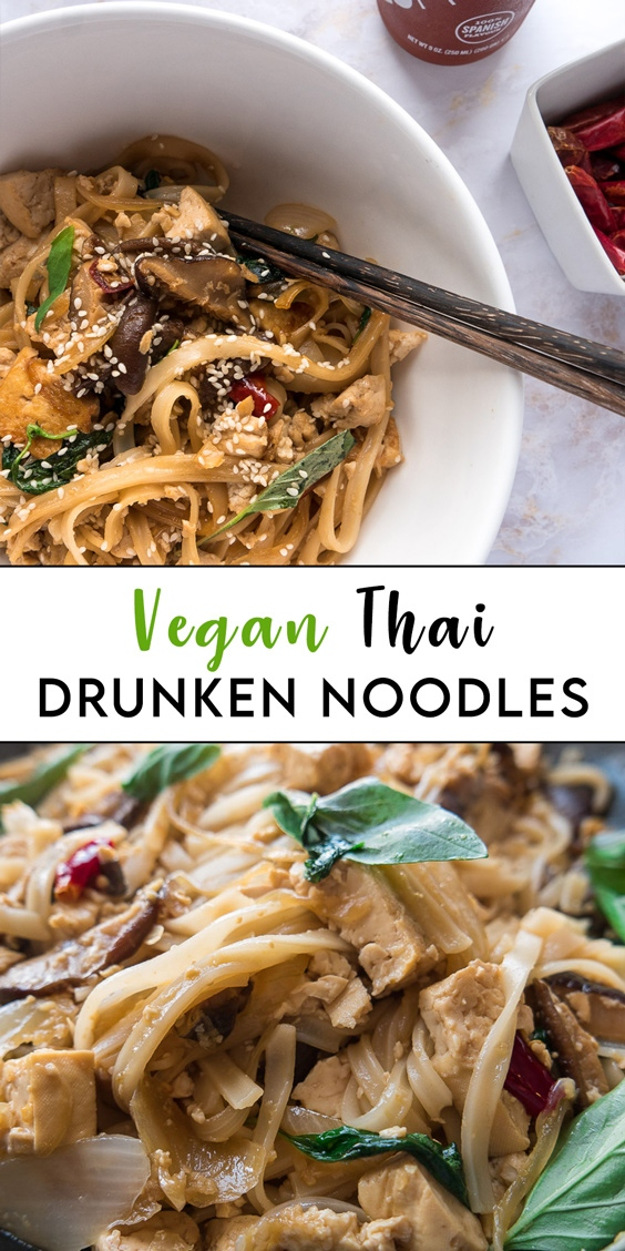 vegan thaii drunken noodles