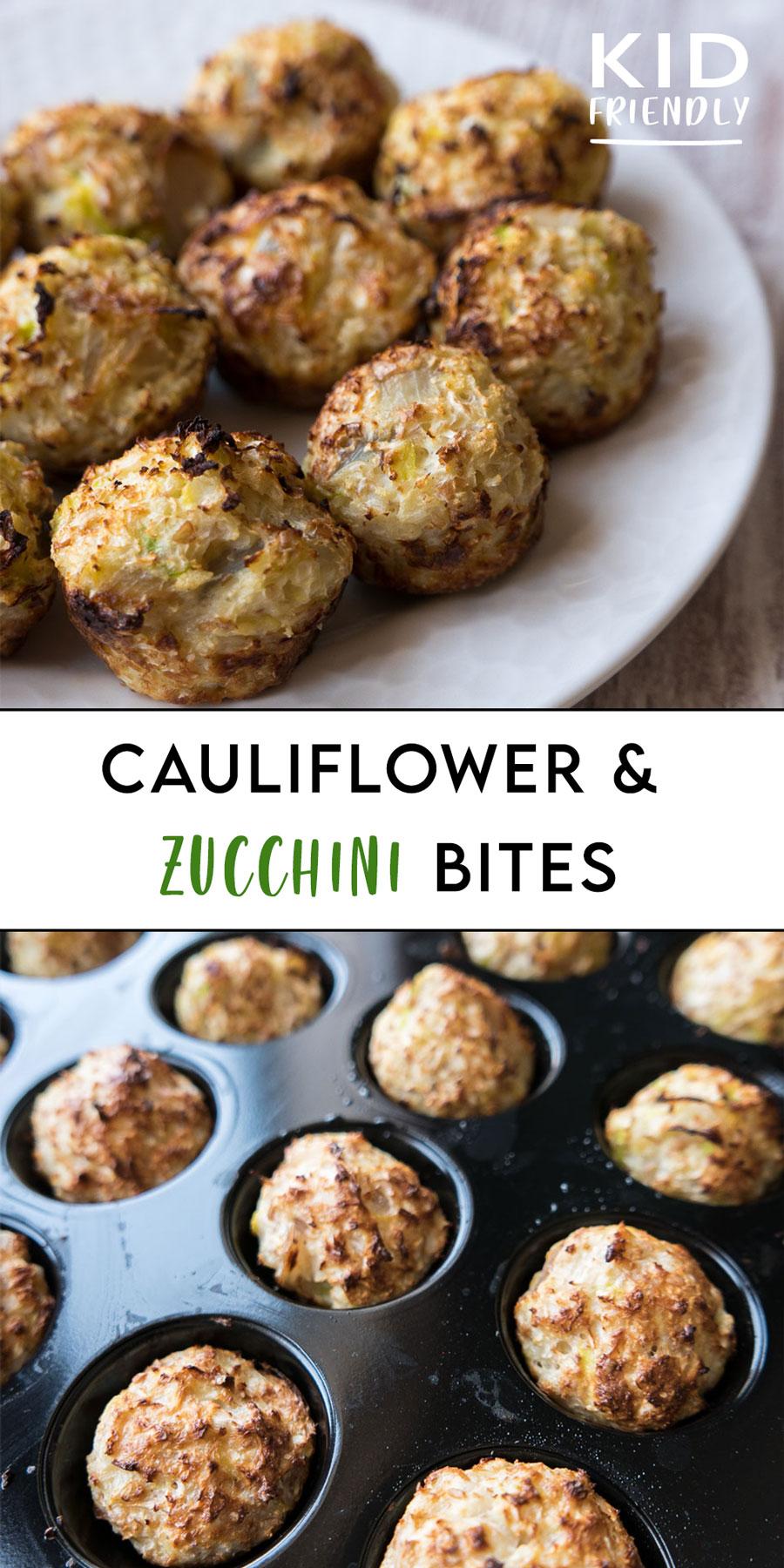 Cauliflower and Zucchini bites