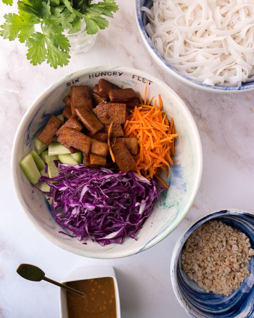 Thai Noodle Salad with Peanut Dressing