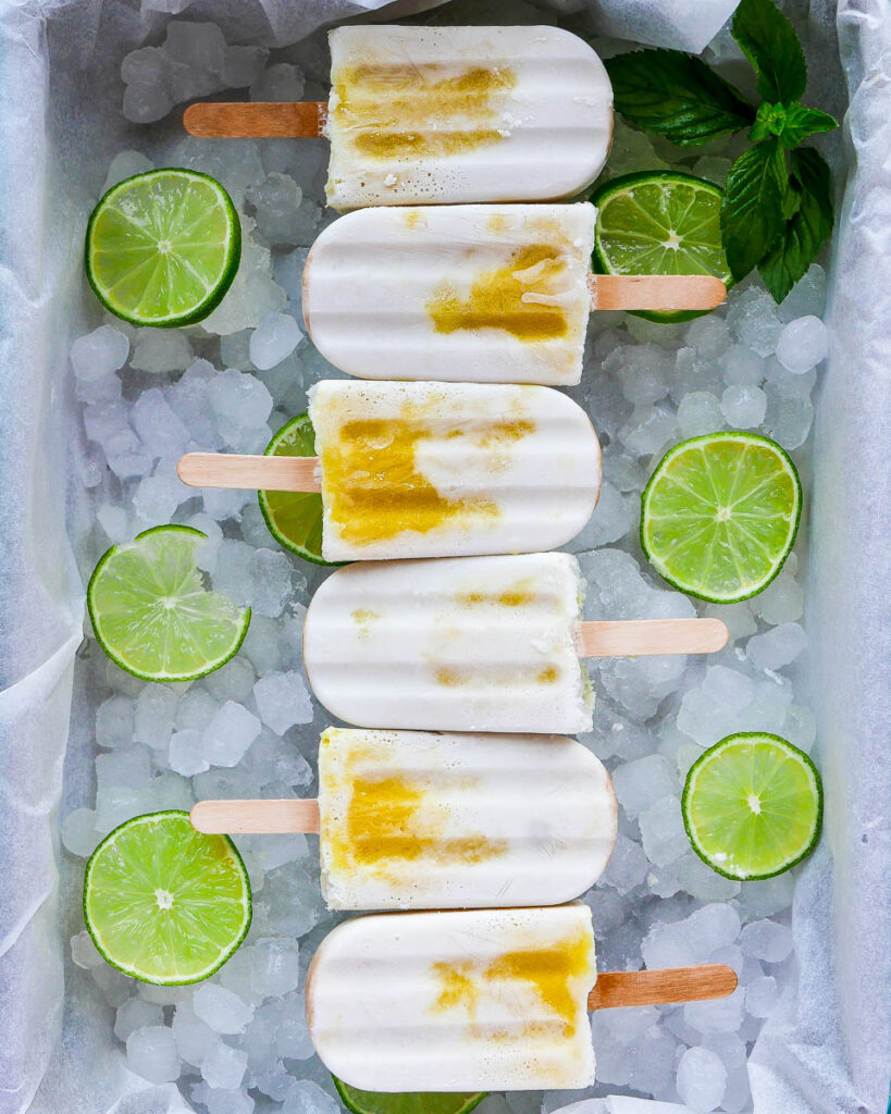 Mango Coconut Popsicles