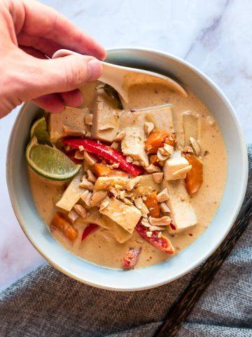 Thai Panang Curry with Tofu