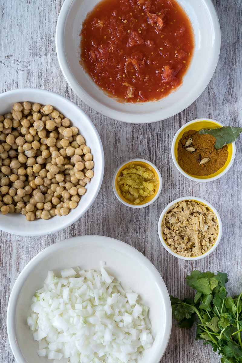 Chana Masala Ingredients