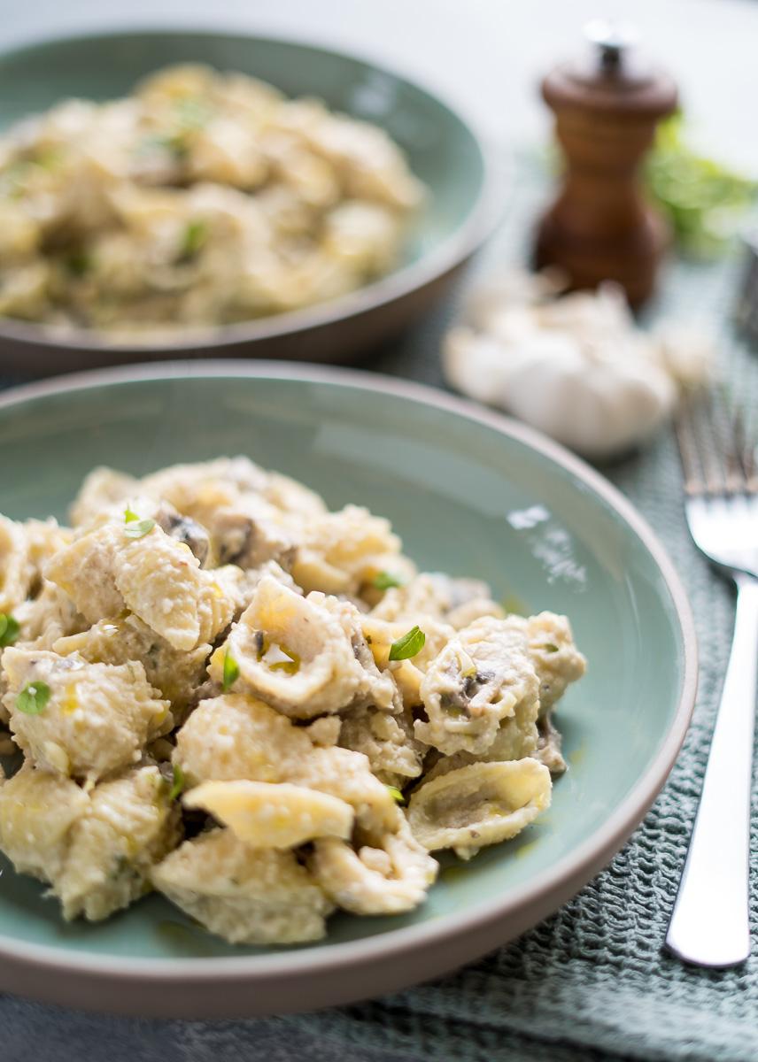 Vegan Creamy Mushroom Pasta