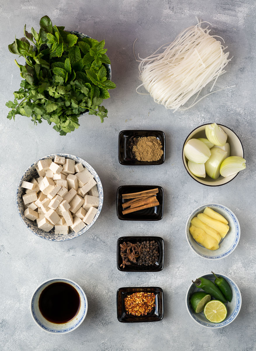 Vegan Pho with Tofu