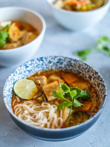Vegan Thai Coconut Noodle Soup