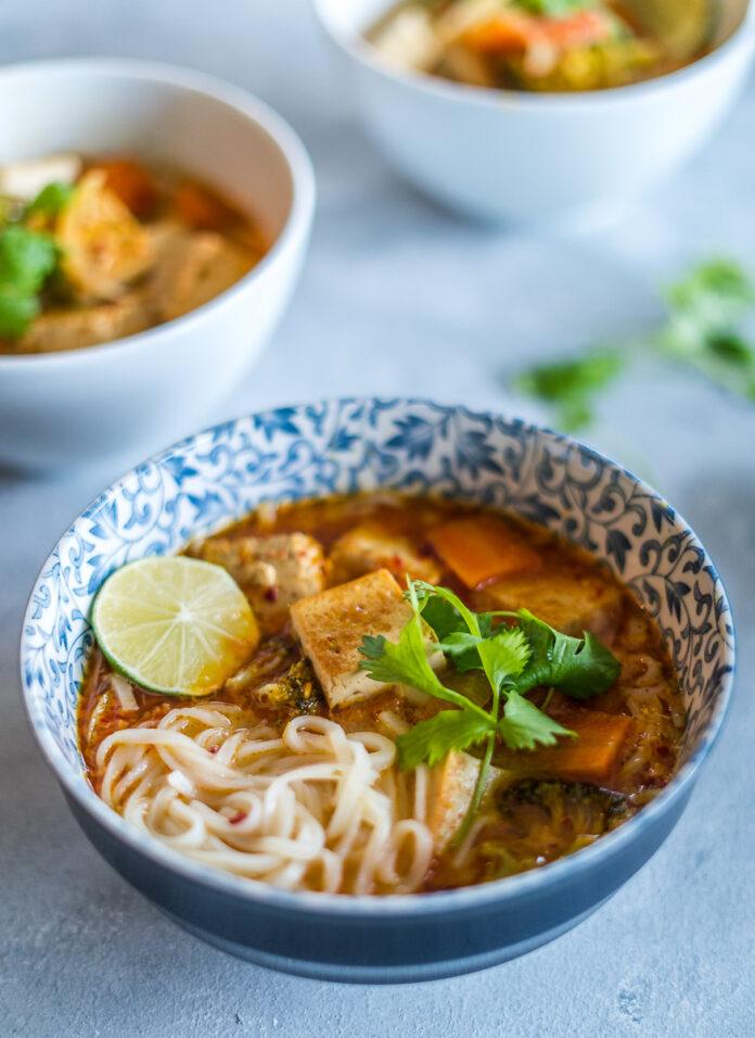 Vegan Thai Coconut Noodle Soup