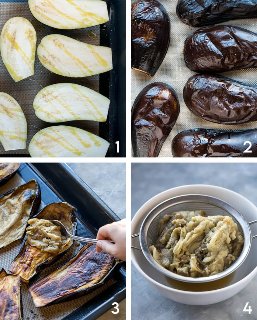 Baba Ganoush step by step
