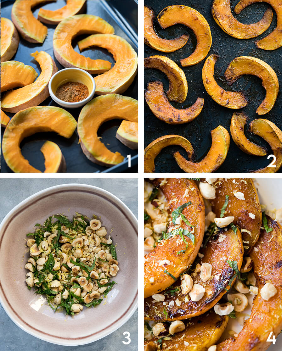 Maple Roasted Pumpkin with Hazelnuts and Mint