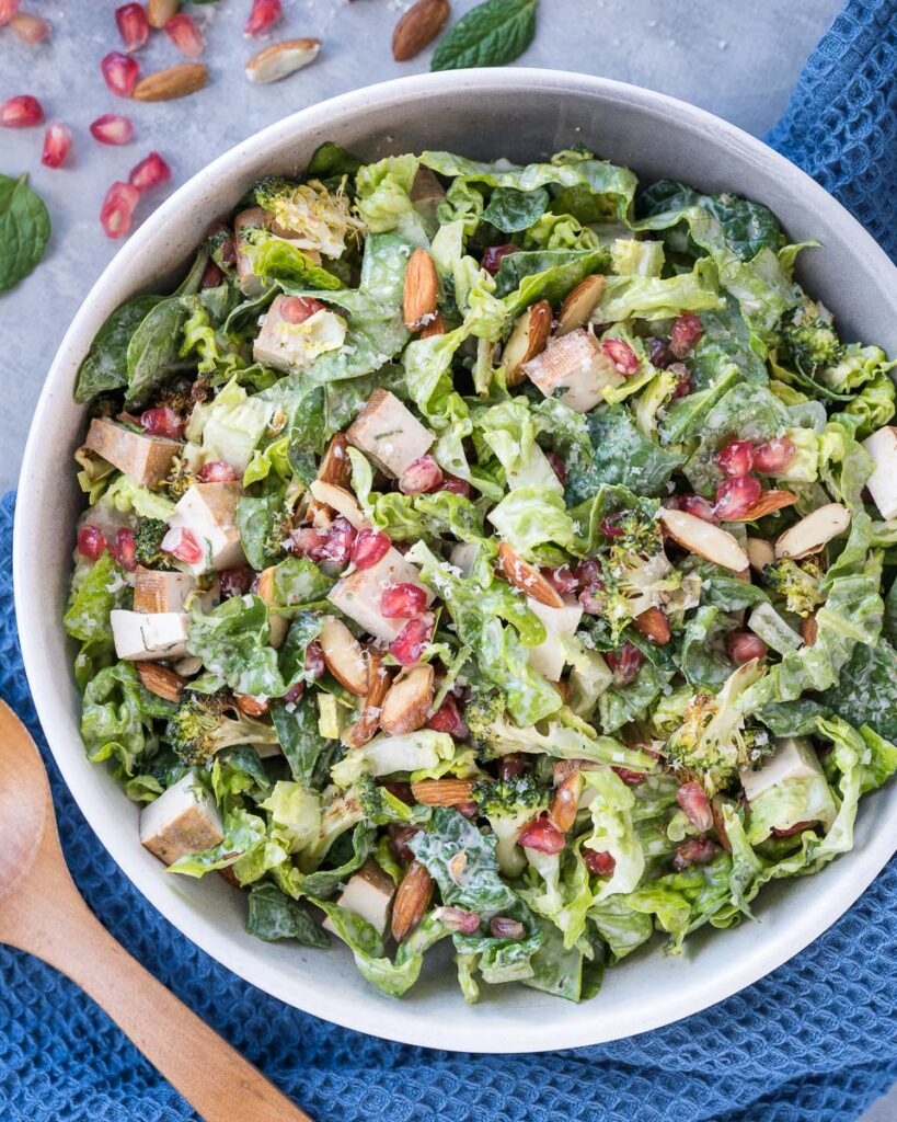 Winter Salad with Broccoli and Pomegranate