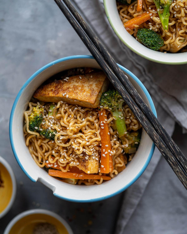 Ramen Noodle Stir Fry with Tofu