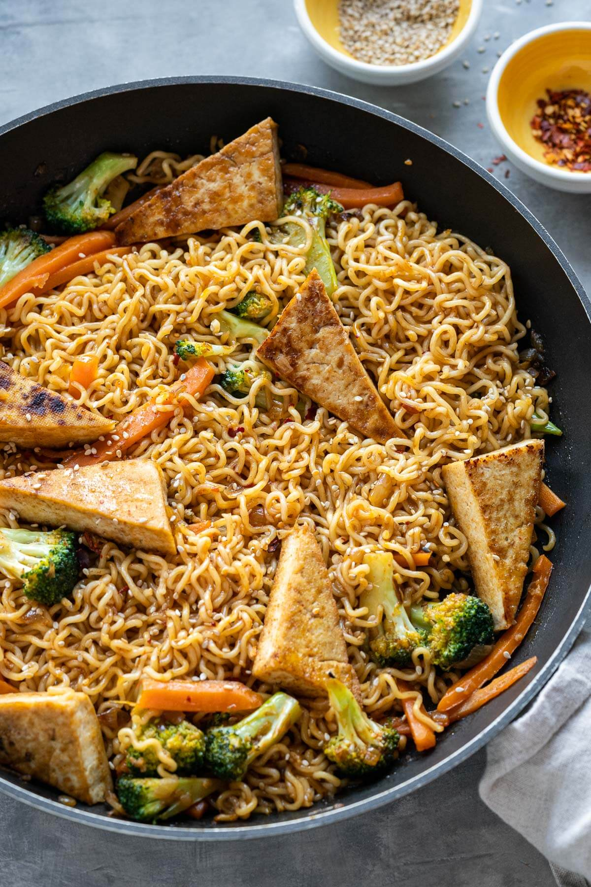 Ramen Noodle Stir Fry with Tofu