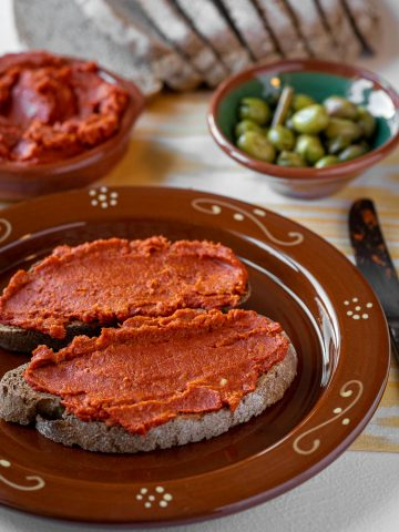 Sun-dried tomato paté - sobrasada vegana