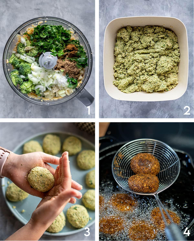 falafel mezze platter steps