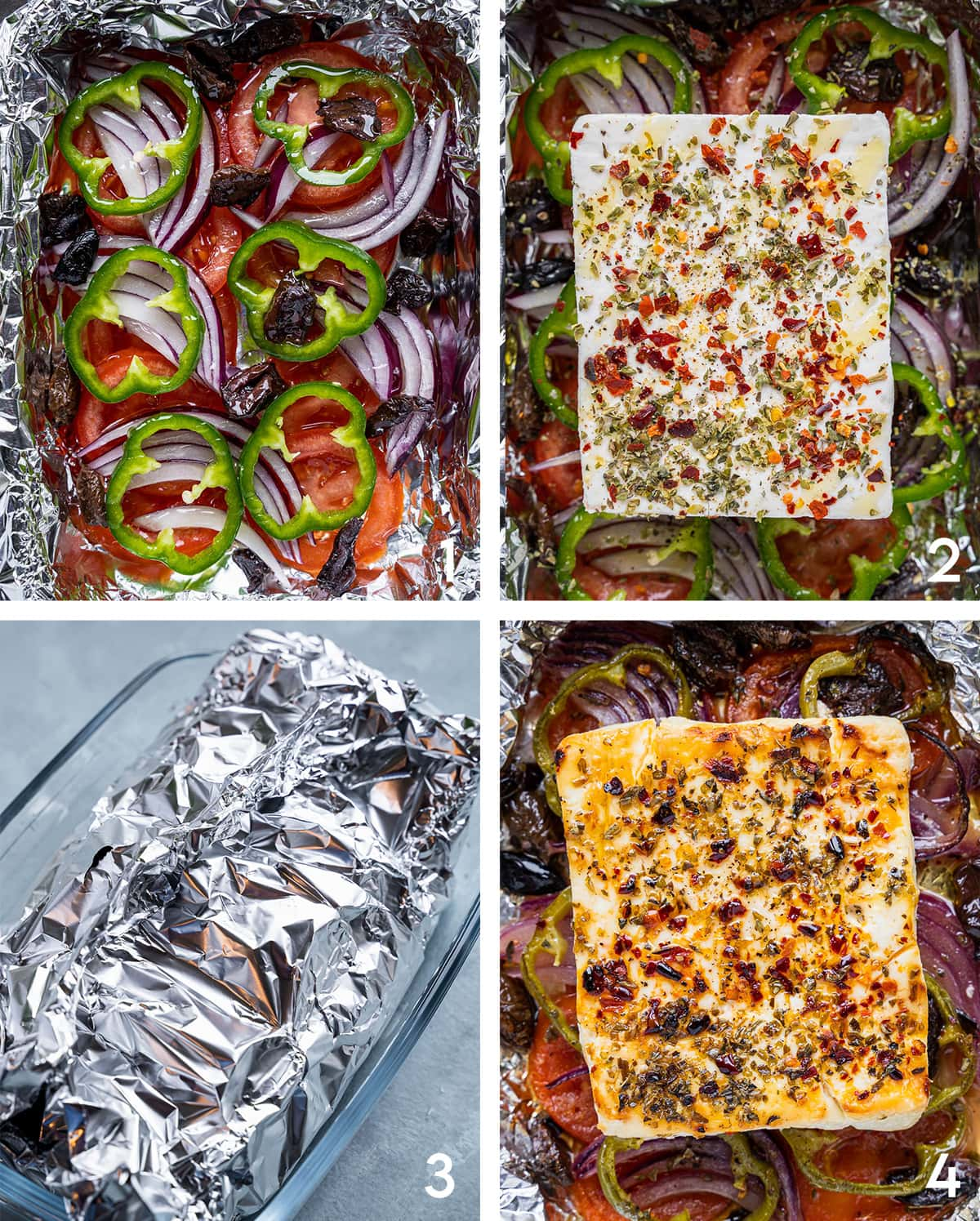 Spicy Baked Feta steps