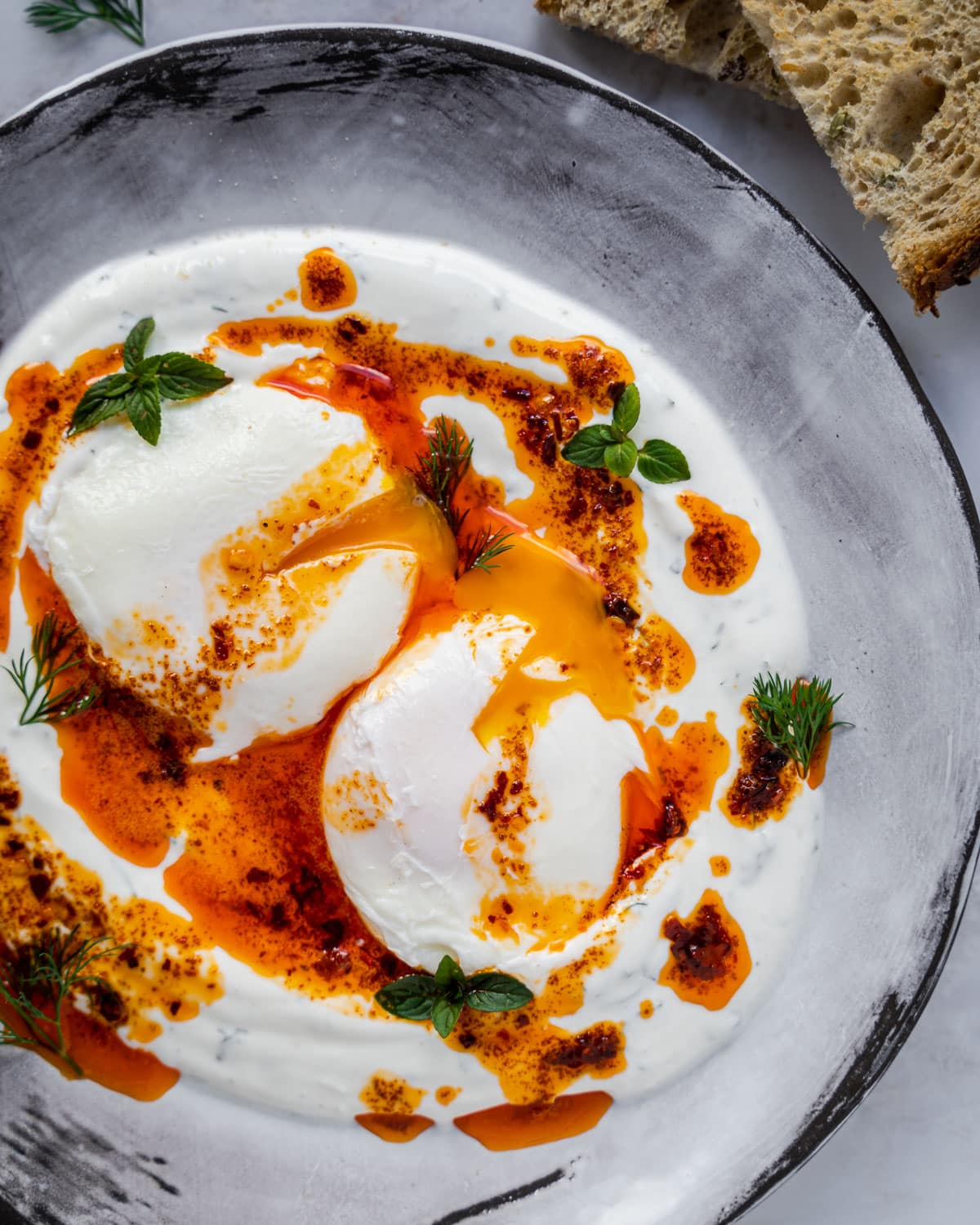 Turkish Eggs (Cilbir)