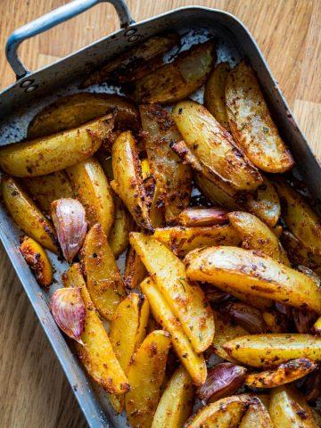 Lemon and Rosemary Potato Wedges
