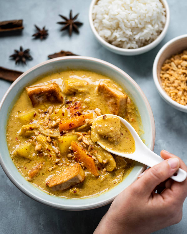 Vegan Massaman Curry with Tofu