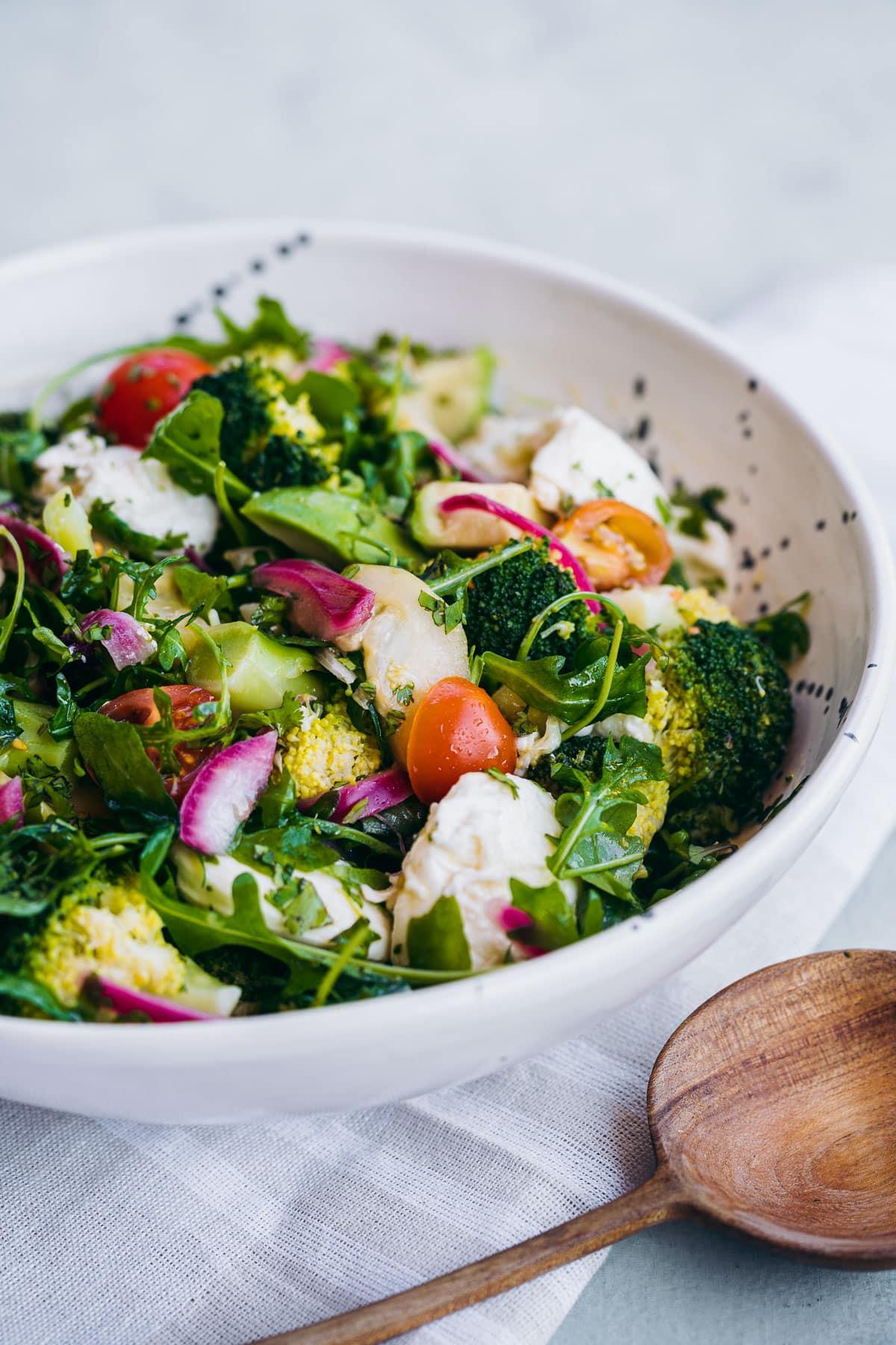 Fresh Broccoli Salad with Pickled Onion