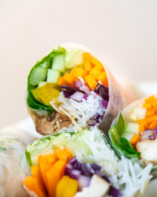 Vegan Summer Rolls with Homemade Peanut Sauce