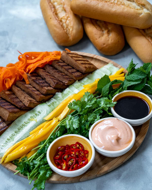 Vegan Banh Mi Ingredients
