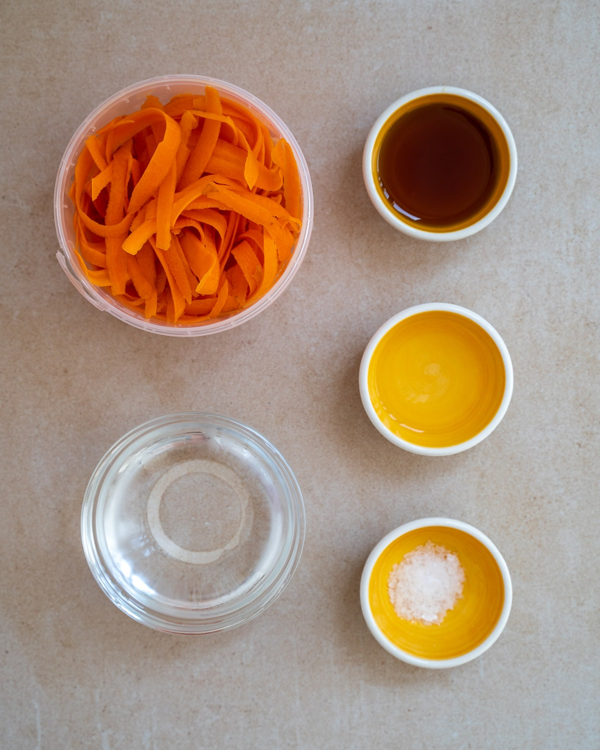 Pickled carrots ingredients
