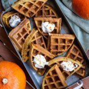 Easy Pumpkin Waffles