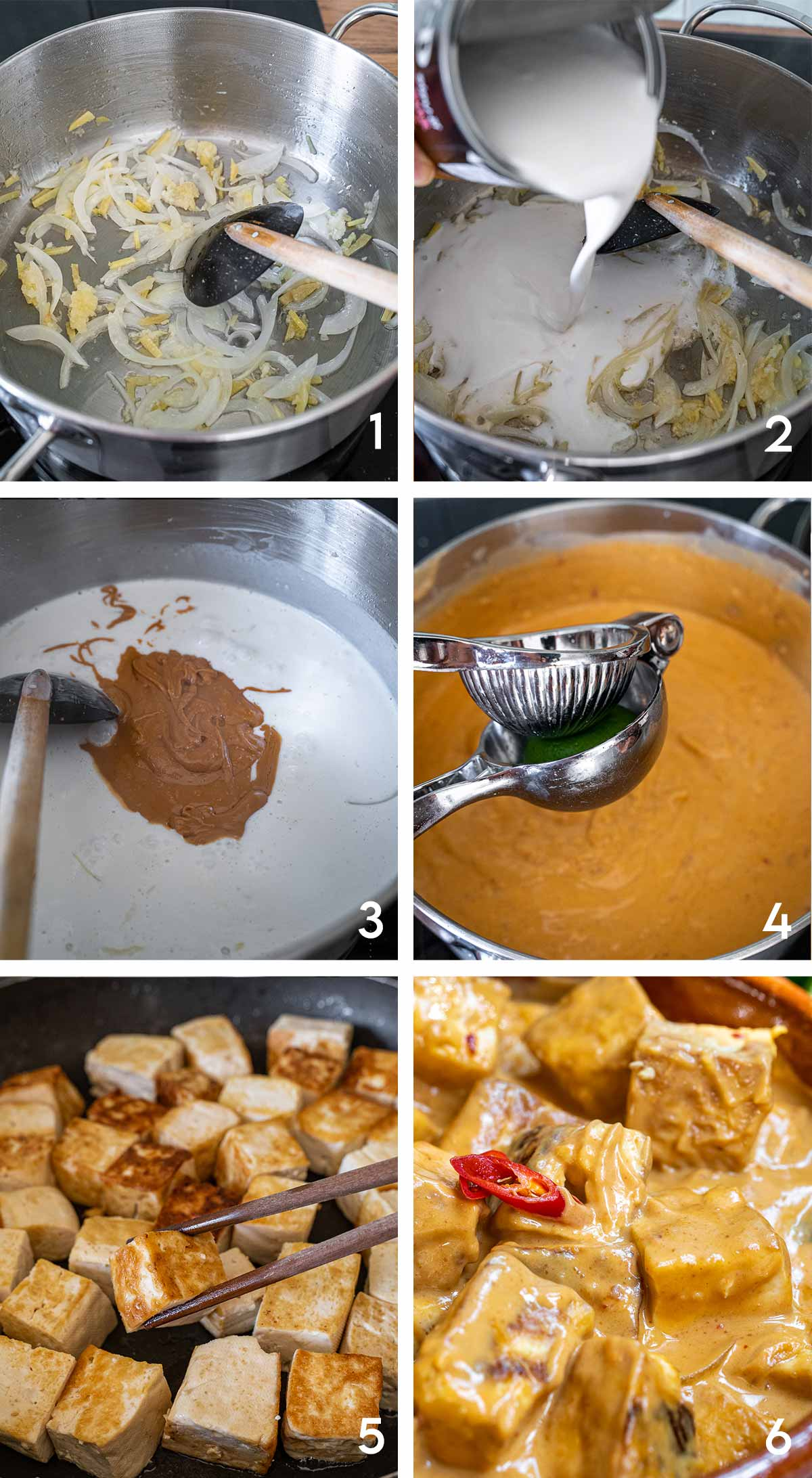 Tofu with Spicy Peanut Sauce Steps